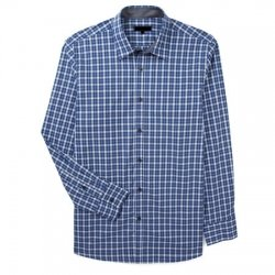 wholesale blue checked shirts