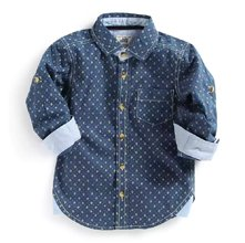 Wholesale Blue Polka Dot Shirt for Boys Manufacturer