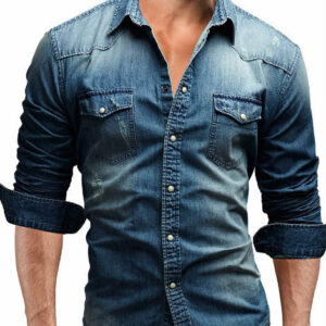 Classic Fit Dark Denim Shirt Manufacturer