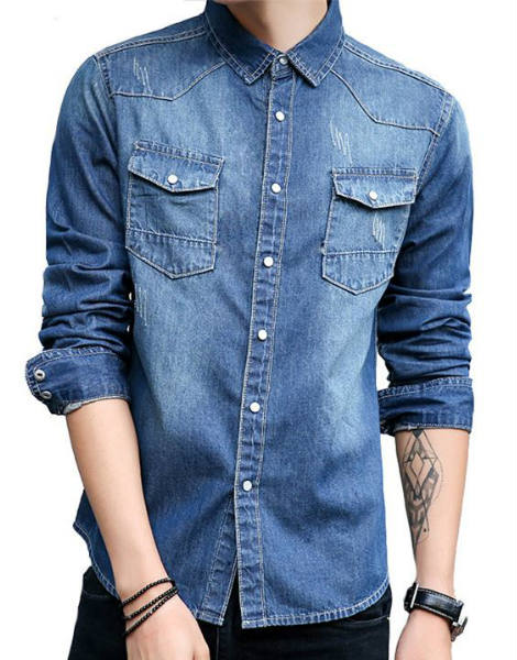 Collared Denim Shirt Manufacturer