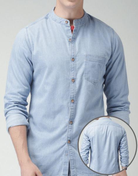 Wholesale Collarless Denim Shirts Manufacturers