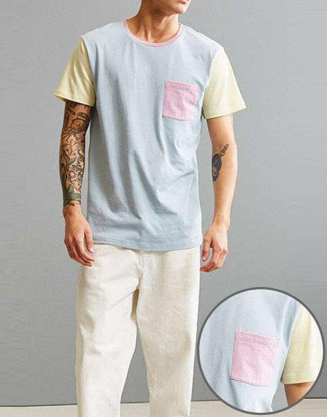 Wholesale colorblock tee shirt Manufacturer