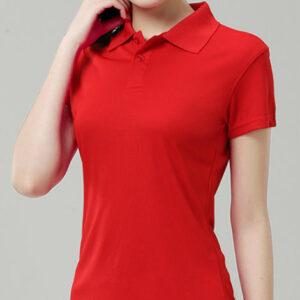 Crimson Red Polo Tee Manufacturer