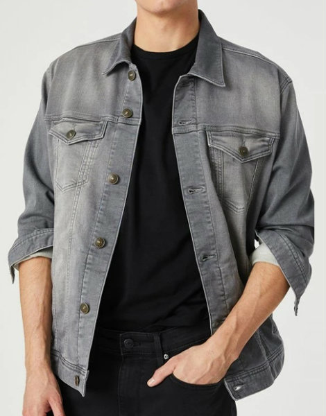 Dark Ash Grey Denim Shirt Manufacturer