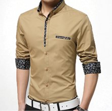 Wholesale Dark Beige Party Shirt for Men Manufacturer