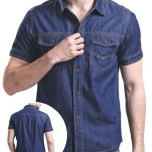 Wholesale Dark Blue Denim Shirts Manufacturer