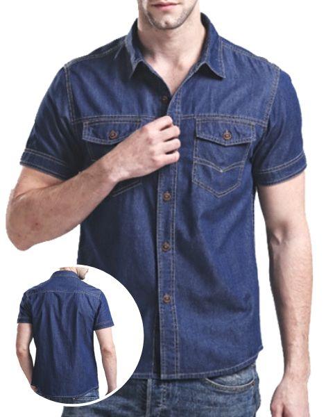 Wholesale Dark Blue Denim Shirts Manufacturer
