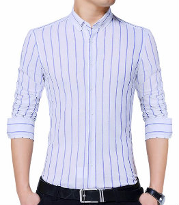 Dark Blue Striped Shirt Manufacturer