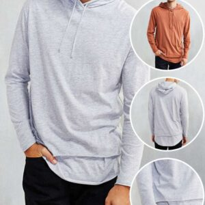 Wholesale double layer hooded t shirts Manufacturers