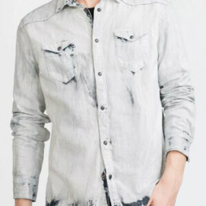 Faded White Denim Shirt Manufacturer