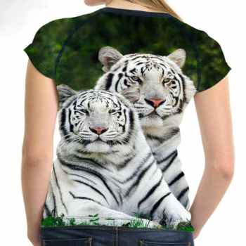 wholesale glaring white tiger 3d t-shirt