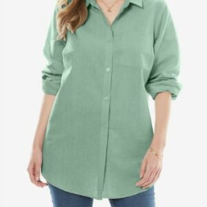 Wholesale Green Plus Size Shirts Manufacturer