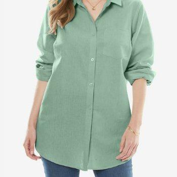Wholesale Green Plus Size Shirts Manufacturer