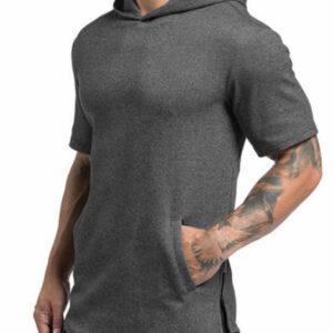 Grey Melange Half Shirt Manufacturer