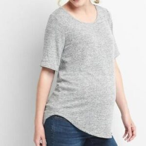Wholesale Grey Melange Regular Tee Manufacturer
