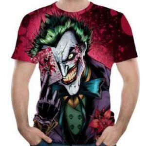 joker face 3d t-shirt manufacturer