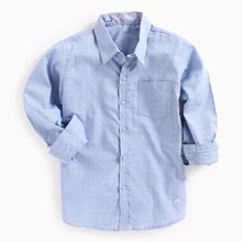 Wholesale Light Blue Polka Shirt Manufacturer