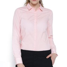 Wholesale Light Pink Formal Shirt for Women Manufacturer