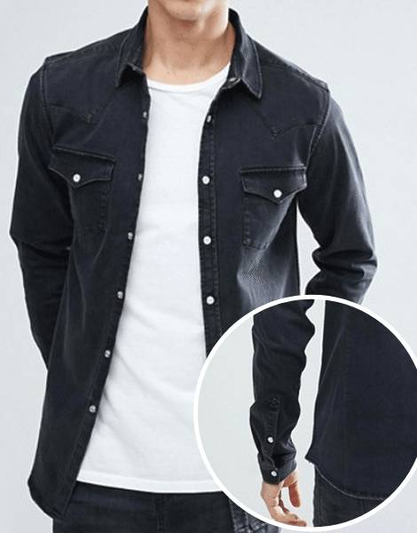 Wholesale Light Washed Denim Shirt Manufacturer