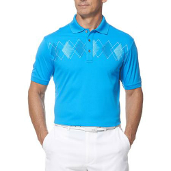 Wholesale Mens Short Sleeve Performance Chest Print Golf Shirt Manufacturer