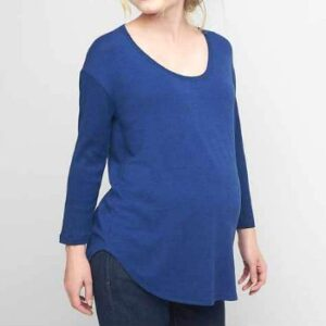 Wholesale Navy Blue Loose Maternity Tee Manufacturer
