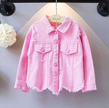 Wholesale Pink Denim Shirt for Girls Manufacturer