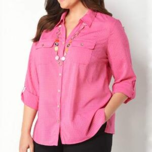 Wholesale Pink Plus Size Shirts Manufacturer