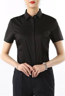 Plain Black Shirt Manufacturer for Women