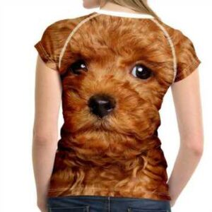 poodle printed 3d t-shirts supplier