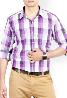 Wholesale Purple Checked Shirt