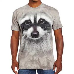 wholesale raccoon face 3d t-shirts supplier
