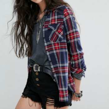 wholesale red and blue check shirts manufacturers