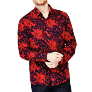 Wholesale Red and Black Print Shirt Manufacturer