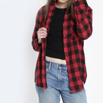 wholesale red checked shirts distributor