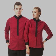 Wholesale Red Uniform Shirt Set Manufacturer