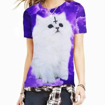 satanic cat 3d t-shirt manufacturer