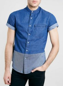 Short Sleeved Denim Shirt