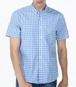Sky Blue Check Shirt Manufacturer