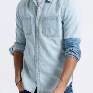 Slim-fit Chambray Denim Shirt Manufacturer