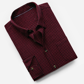 Slim-fit Gingham Red White Check Shirt