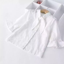 Wholesale Solid White Shirt for Girls Manufacturer