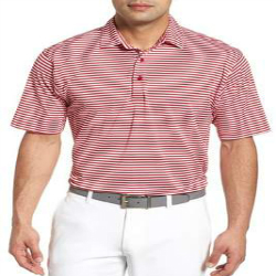 Wholesale Stripe Stretch Mens Golf Shirts Manufacturer