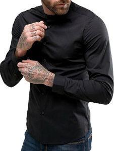 Stylish Mens Black Shirt Manufacturer