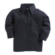 Wholesale Textured Black Shirt for Boys Manufacturer