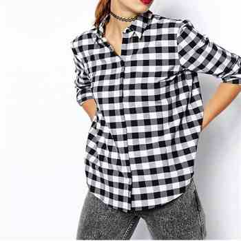 wholesale black and white check shirts suppliers