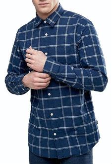 Blue Checked Slim-fit Casual Shirts Manufacturer
