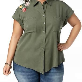 Wholesale Bottle Green Plus Size Shirts Manufacturer