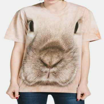 wholesale bunny face 3d t-shirt manufacturer