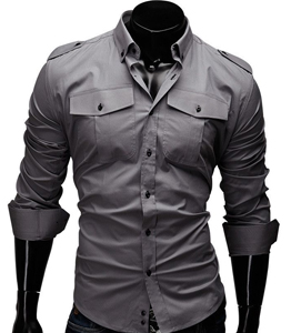 Wholesale Cute Grey Mens Shirts Manufacturer
