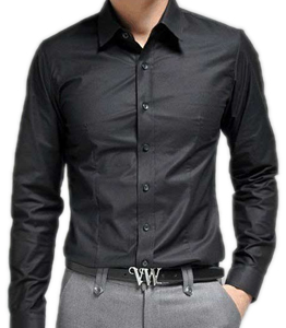 Wholesale Full Black Shirt